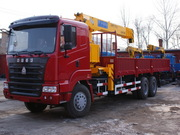 Бортовой грузовик Howo 6x4 с краном  6.3 т - «Азия Трэйд