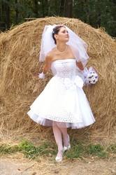 Оригинальное и единственное в своем экземпляре свадебное платье Макраме белое в стиле РЕТРО .Платье в отличном состоянии после химчистки.Размер 44-46
