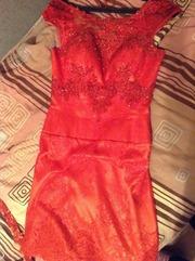Платье красное Выпускное, срочно продается