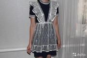 Продам школьное платье с фартуком